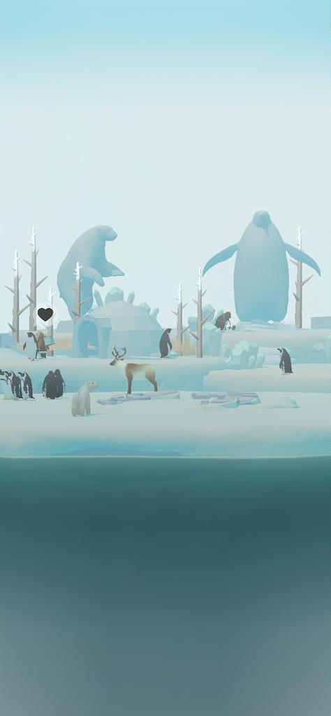 ペンギンの氷像
